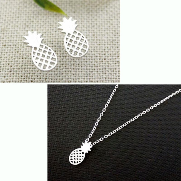 Fresh Island Pineapple Necklace and Earring Set - Set - Oberlo -  Maoli Life -  Maoli Life - Hawaii Jewelry - Best of Hawaii - Island Clothing - Hawaii Clothing - Hawaiian Clothing - Maoli
