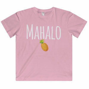 Mahalo Pineapple Girl's Tee - Kids clothes - Printify -  Maoli Life -  Maoli Life - Hawaii Jewelry - Best of Hawaii - Island Clothing - Hawaii Clothing - Hawaiian Clothing - Maoli
