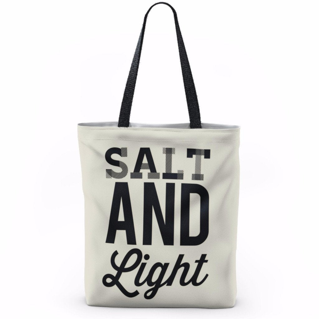 Salt And Light Tote - Bags - Printify -  Maoli Life -  Maoli Life - Hawaii Jewelry - Best of Hawaii - Island Clothing - Hawaii Clothing - Hawaiian Clothing - Maoli