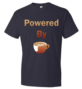 Powered By - Coffee Cup - Short Sleeve T-Shirt