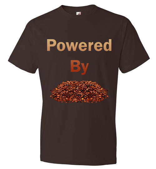 Powered By - Coffee Beans - Short Sleeve T-Shirt