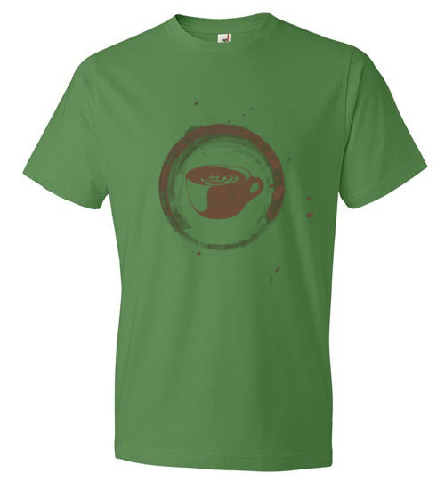 Coffee Cup Circle - Short Sleeve T-Shirt