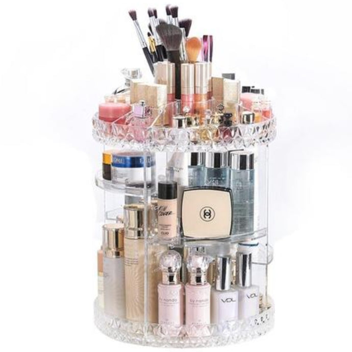 360° Rotation Makeup Organizer