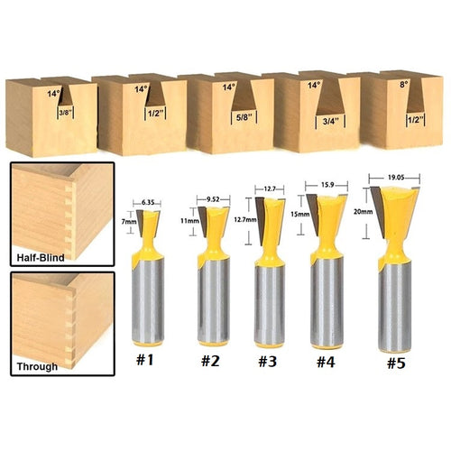 Dovetail Router Bit (1/2