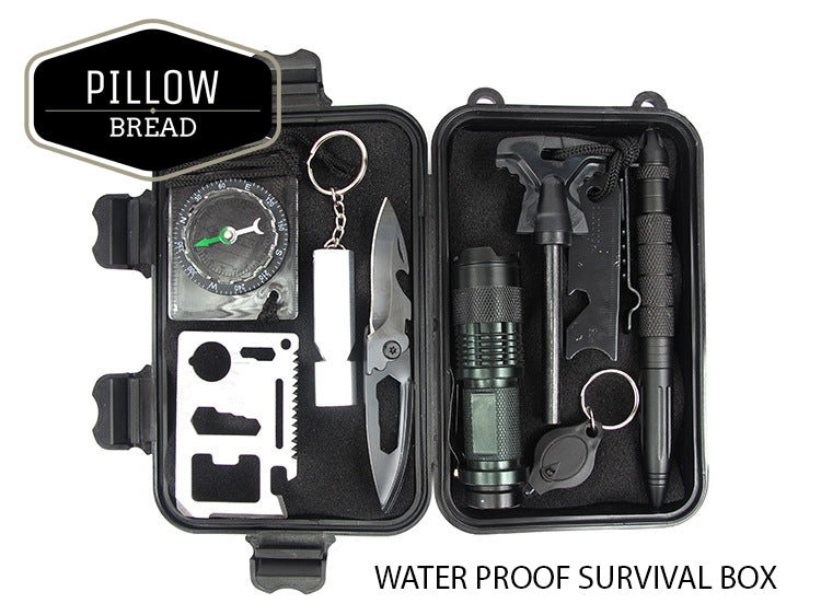 Portable Survival Gear : In outdoor survival equipment box for camping hiking