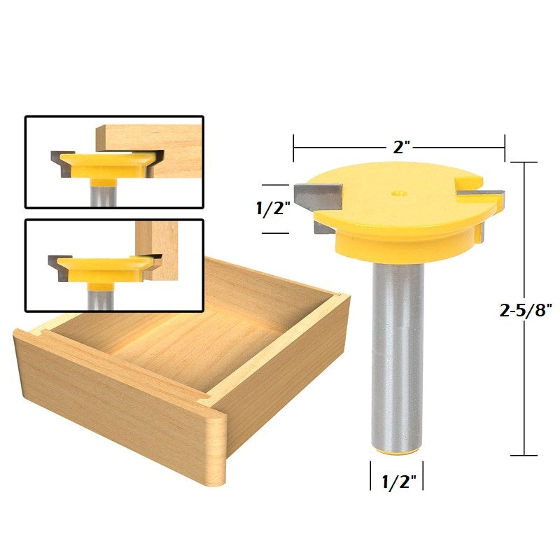 Drawer Lock Joint Router Bit Pillow Bread Inc