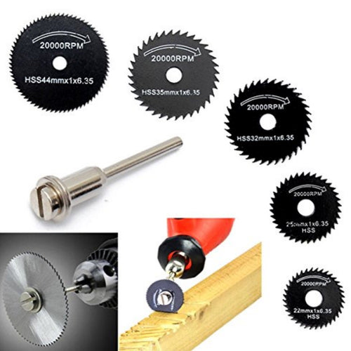 6pcs High Speed Steel Circular Saw