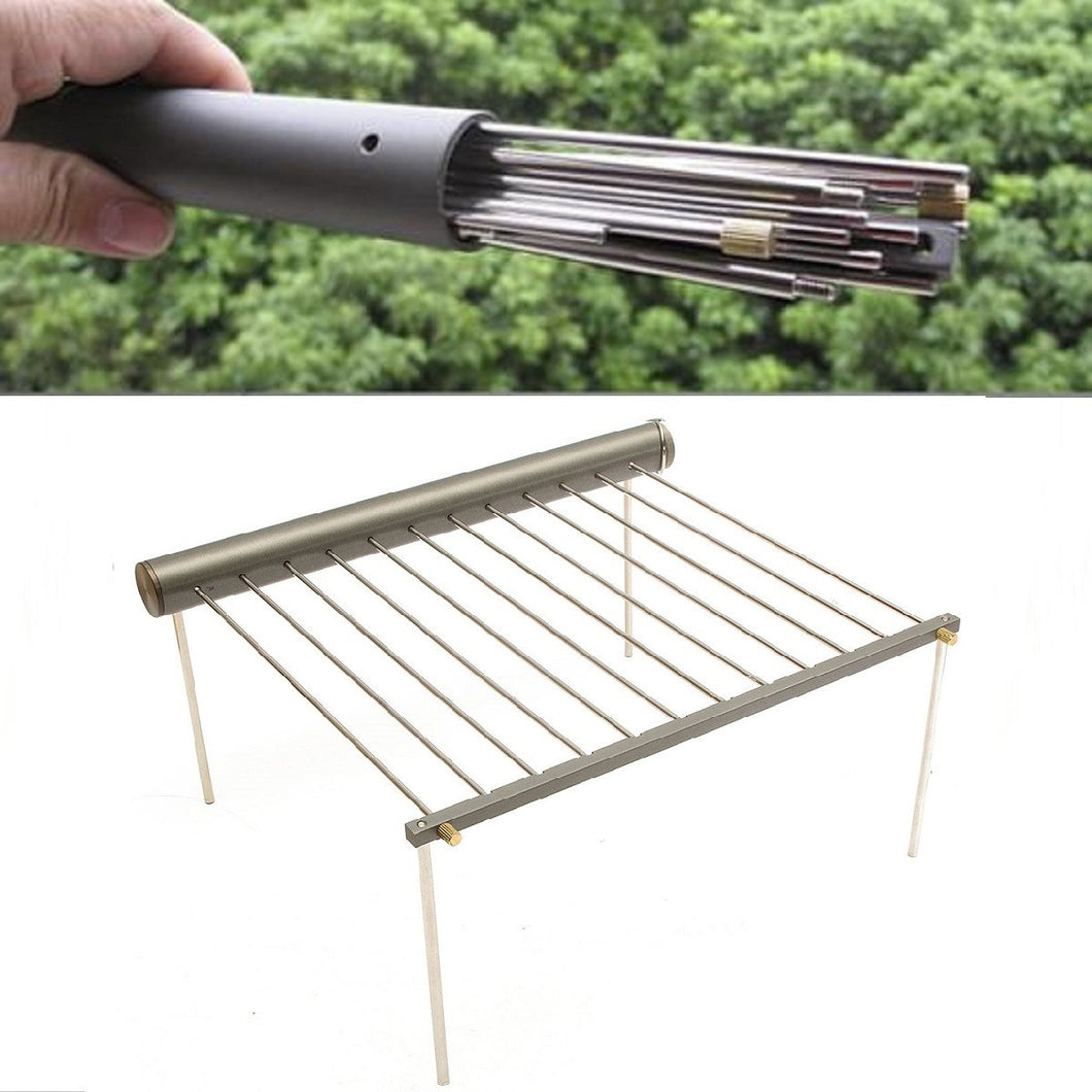 Portable Stainless Steel Bbq Grill Pillow Bread Inc