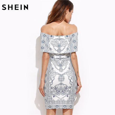 Women Sexy Off The Shoulder Short Bodycon Dress - Fashion | Jewelry | Watches