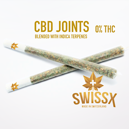 One Premium 1.5 gram CBD Joint with Indica Terpines 0% THC