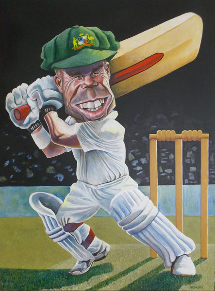 Dave Warner Painting for the Bald Archy Prize