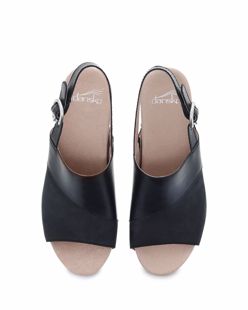 Dansko Madalyn (Black Burnished Calf)