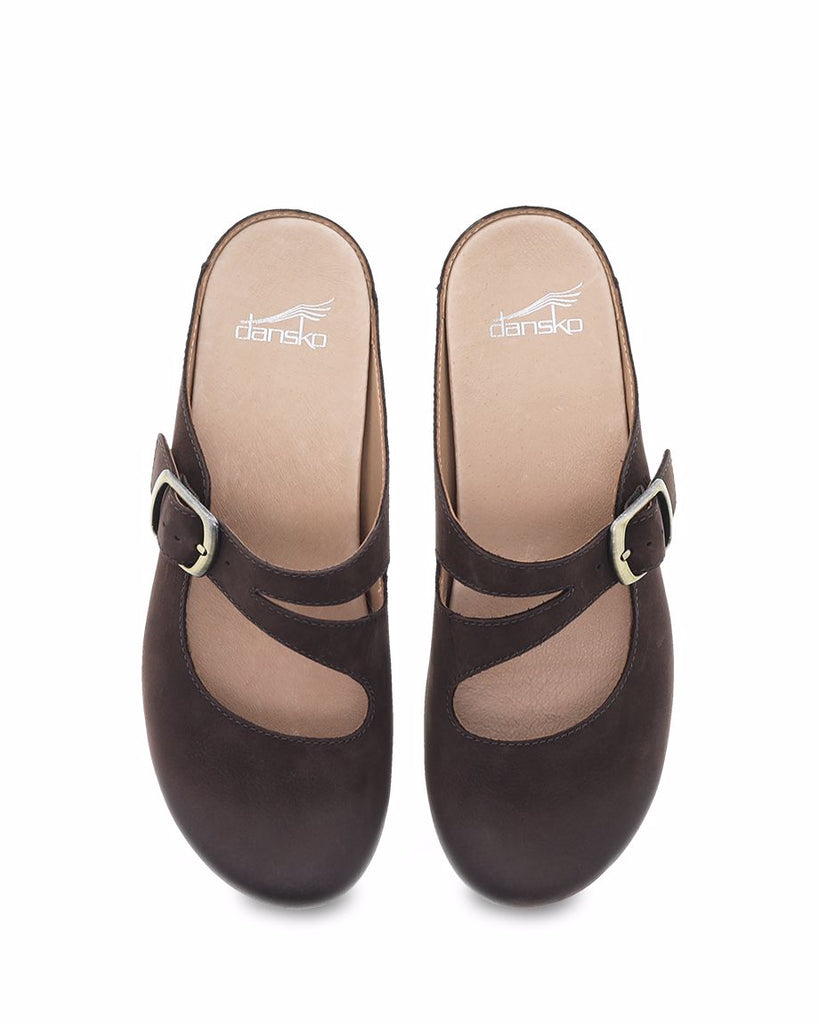 Dansko Britney Chocolate Burnished Nubuck