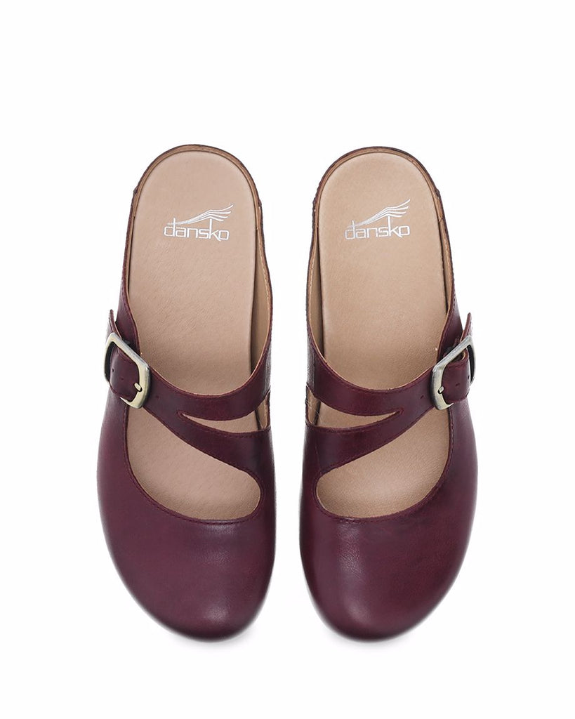 Dansko Britney Wine Waxy Burnished