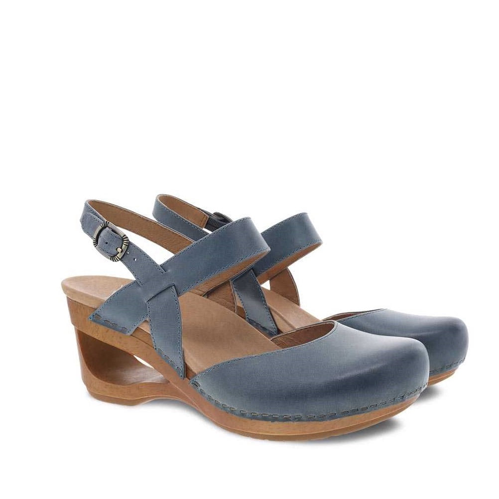 Dansko Taci Denim Waxy Calf