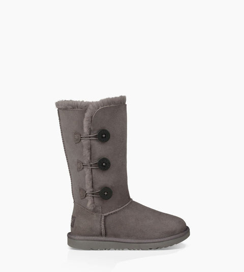 UGG Kids' Bailey Button Triplet II (Grey)