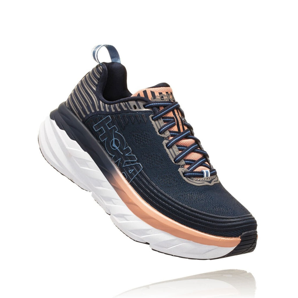 Hoka Women's Bondi 6 (MOOD INDIGO / DUSTY PINK)