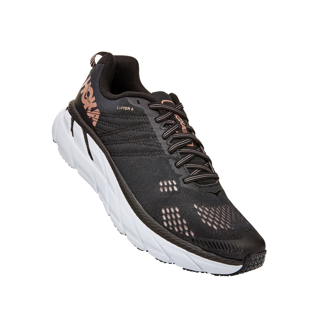 Hoka Clifton 6 (Black/Rose Gold)