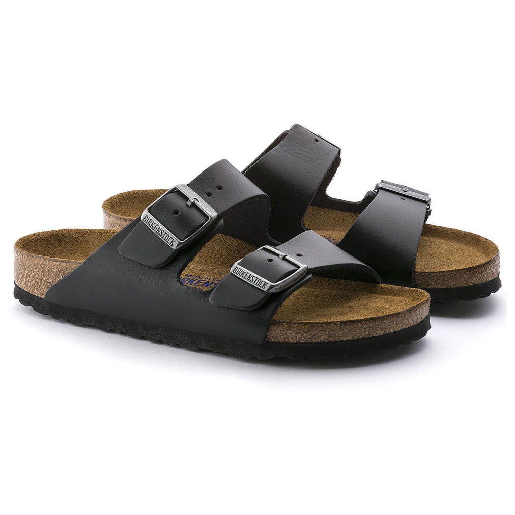 Birkenstock Arizona Soft Footbed Amalfi Leather (Black)