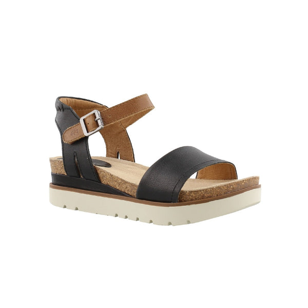 Josef Seibel Clea 01 Leather Sandal (Black)