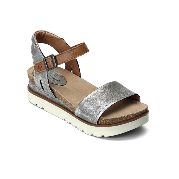 Josef Seibel Clea 01 Leather Sandal (Platinum)