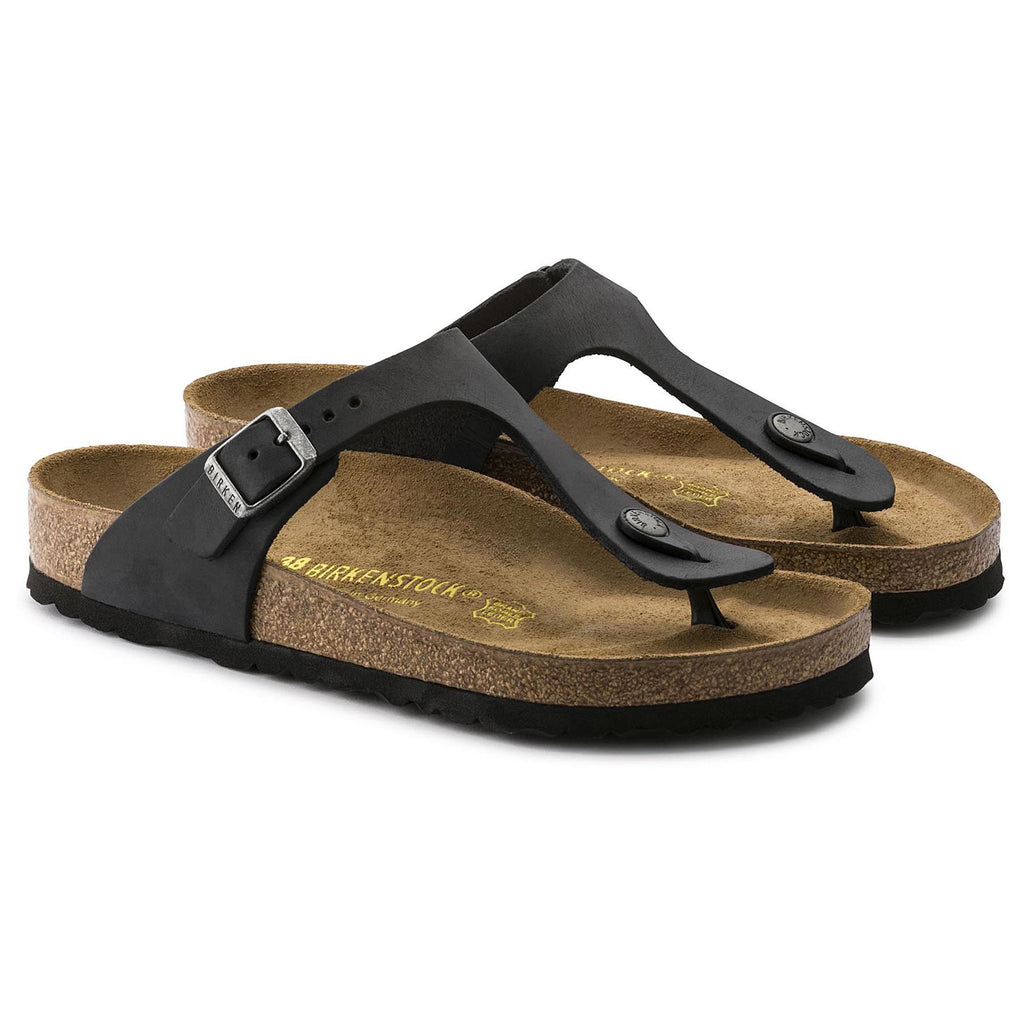 Birkenstock Gizeh Oiled Leather (Black)