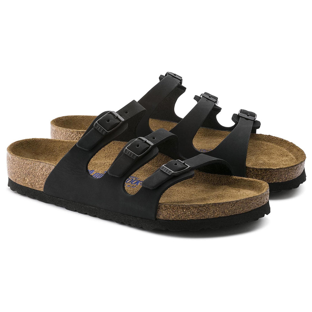Birkenstock Florida Soft Footbed Nubuck (Black)