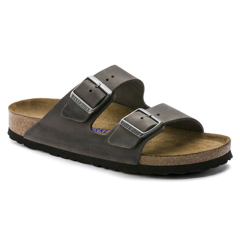 Birkenstock Arizona Soft Bed Oiled Leather - (Iron)