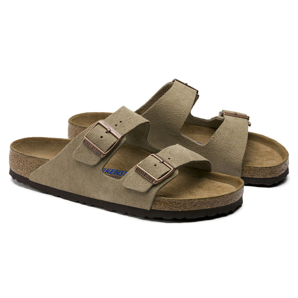 Birkenstock Arizona Suede Leather (Taupe-Narrow)