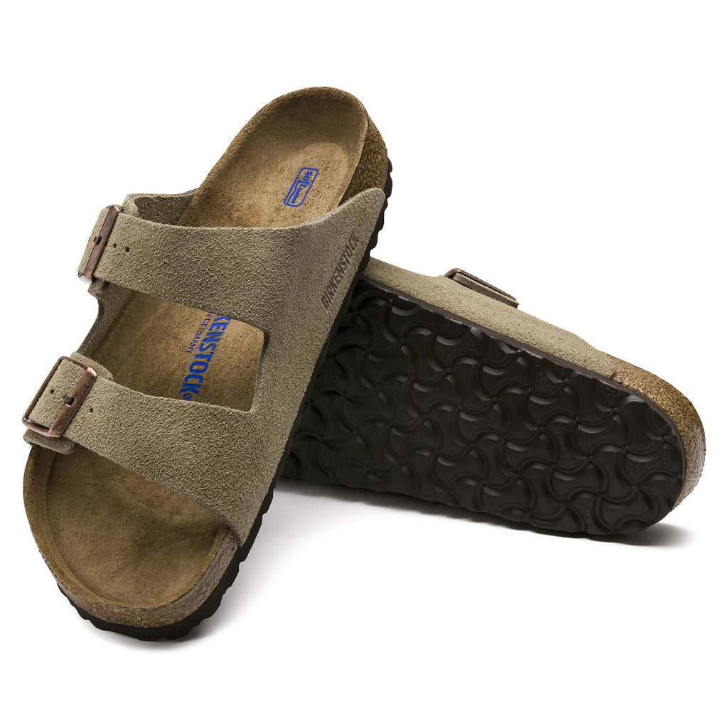 Birkenstock Arizona Soft Footbed Suede Leather (Taupe)