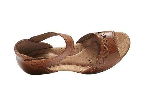 Rockport Cobb Hill Abbott 2 Piece Ankle Strap Sandal (Tan)