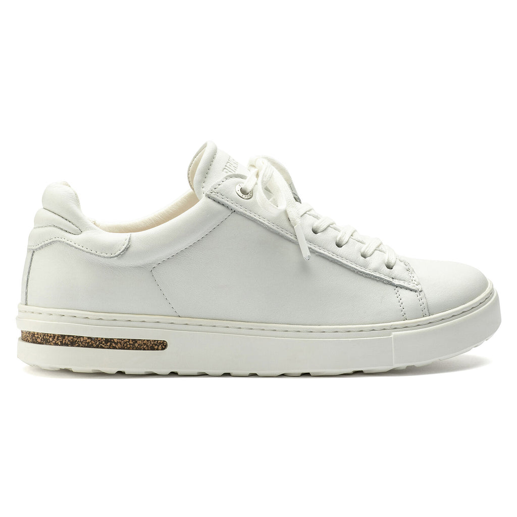 Leather lace up sneaker in white.