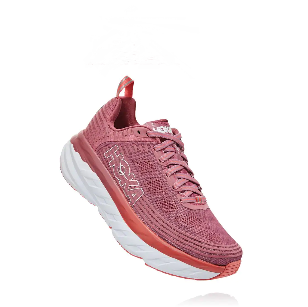Red Althetic Women's Hoka Shoes
