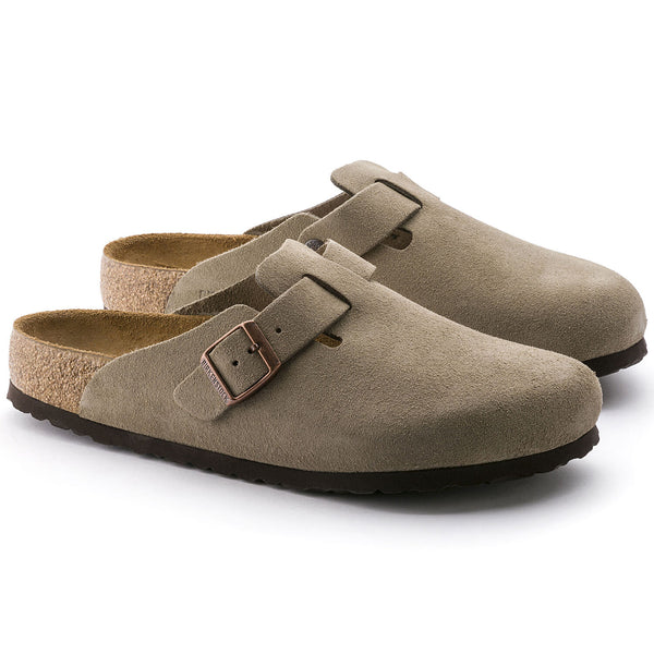 Birkenstock Boston Suede Leather (Taupe)