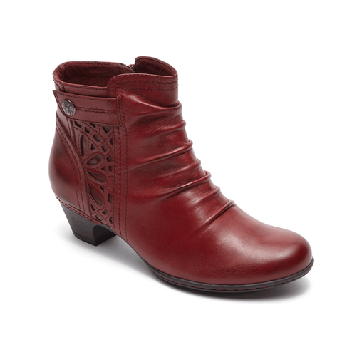 Cobb Hill Abilene Zip Bootie (Bordeaux)