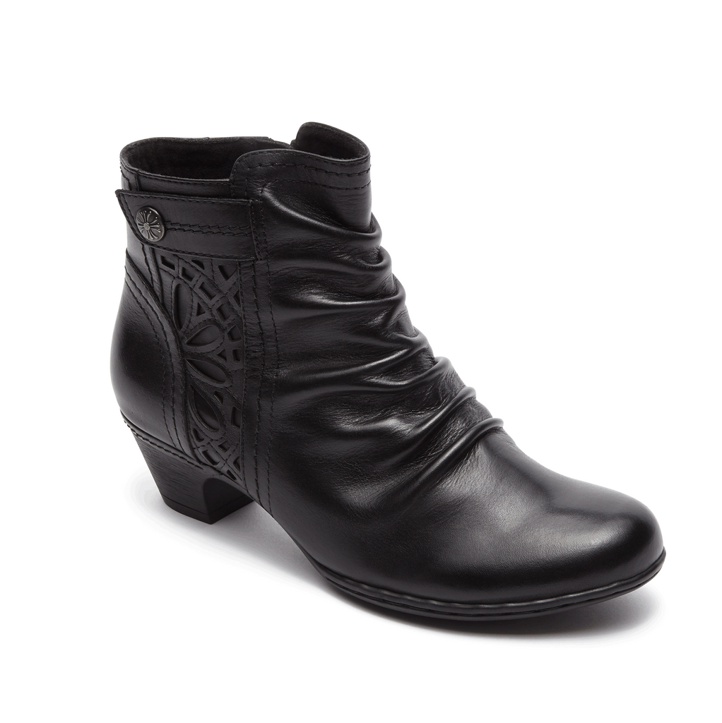 Cobb Hill Abilene Zip Bootie (Black)