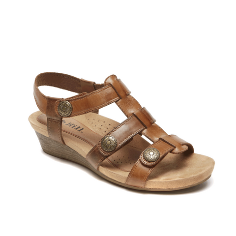 Cobb Hill Harper Adjustable Sandal (Tan)