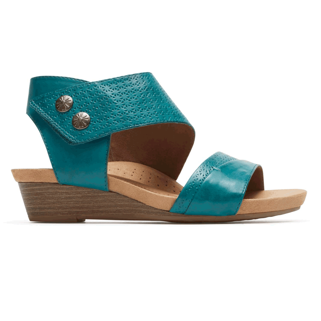 Cobb Hill Hollywood Cuff Sandal (Teal)