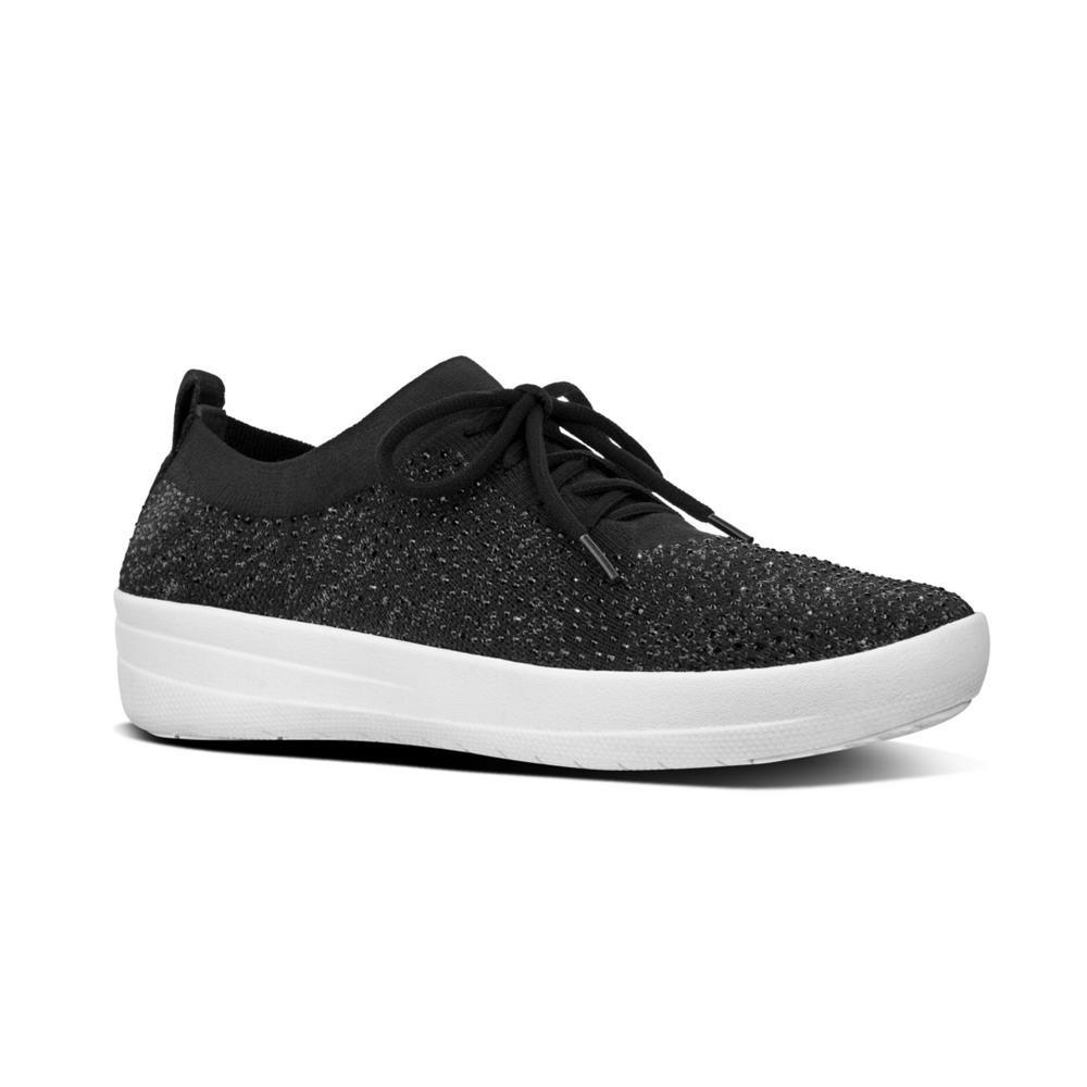 05466b2aa378 Fitflop F-SPORTY UBERKNIT™ Crystal Sneakers (Black) – EH Shoes