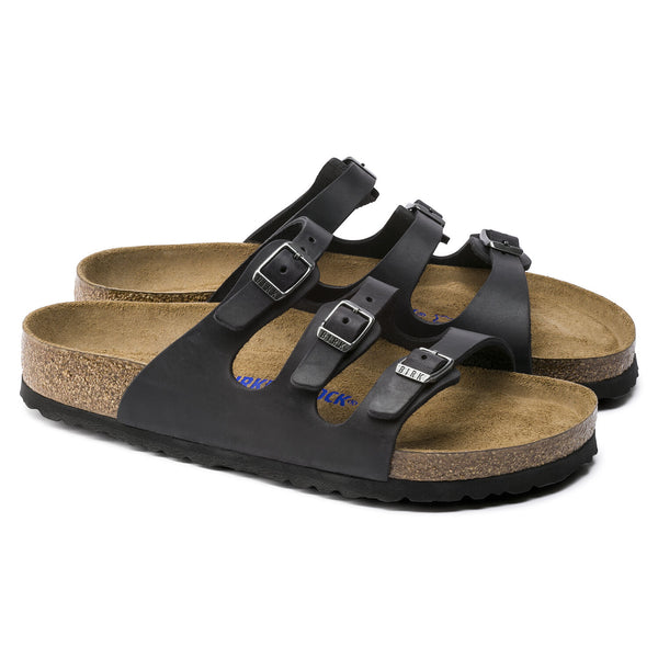 Birkenstock Florida Soft Footbed Oiled Leather (Black)