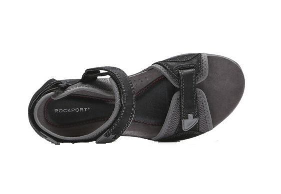 Rockport Women's Franklin Three Strap Sport Sandal (Black)