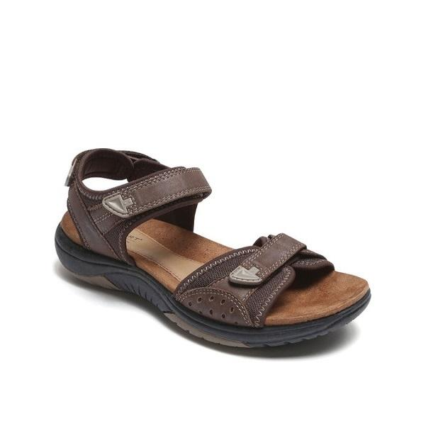 Rockport Women's Franklin Three Strap Sport Sandal (Brown)