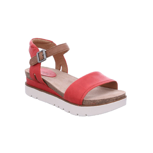 Josef Seibel Clea 01 Leather Sandal (Red)
