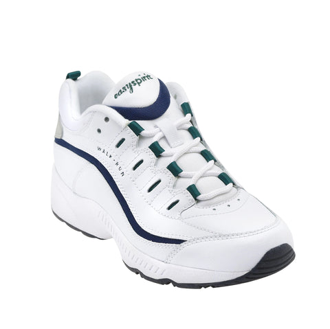 Easy Spirit Romy Leather Walking Shoes (White Multi)