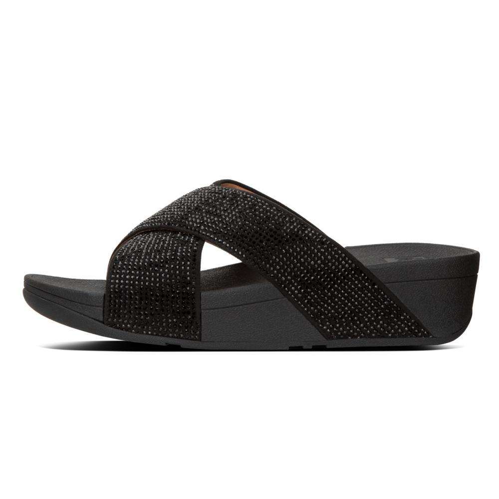 Fitflop RITZY™ Slide Sandals (Black)