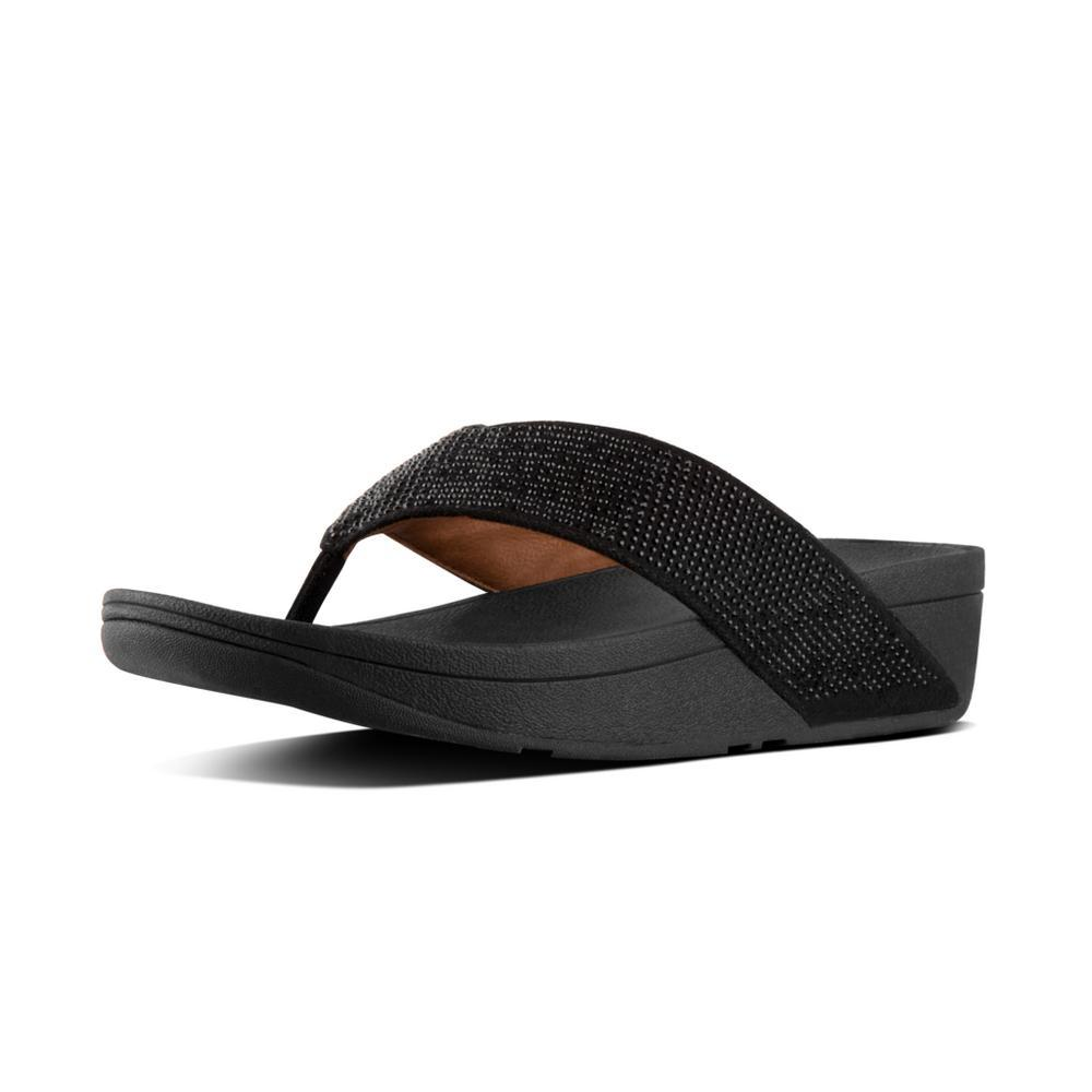 Fitfop RITZY™ Toe-Thong Sandals (Black)
