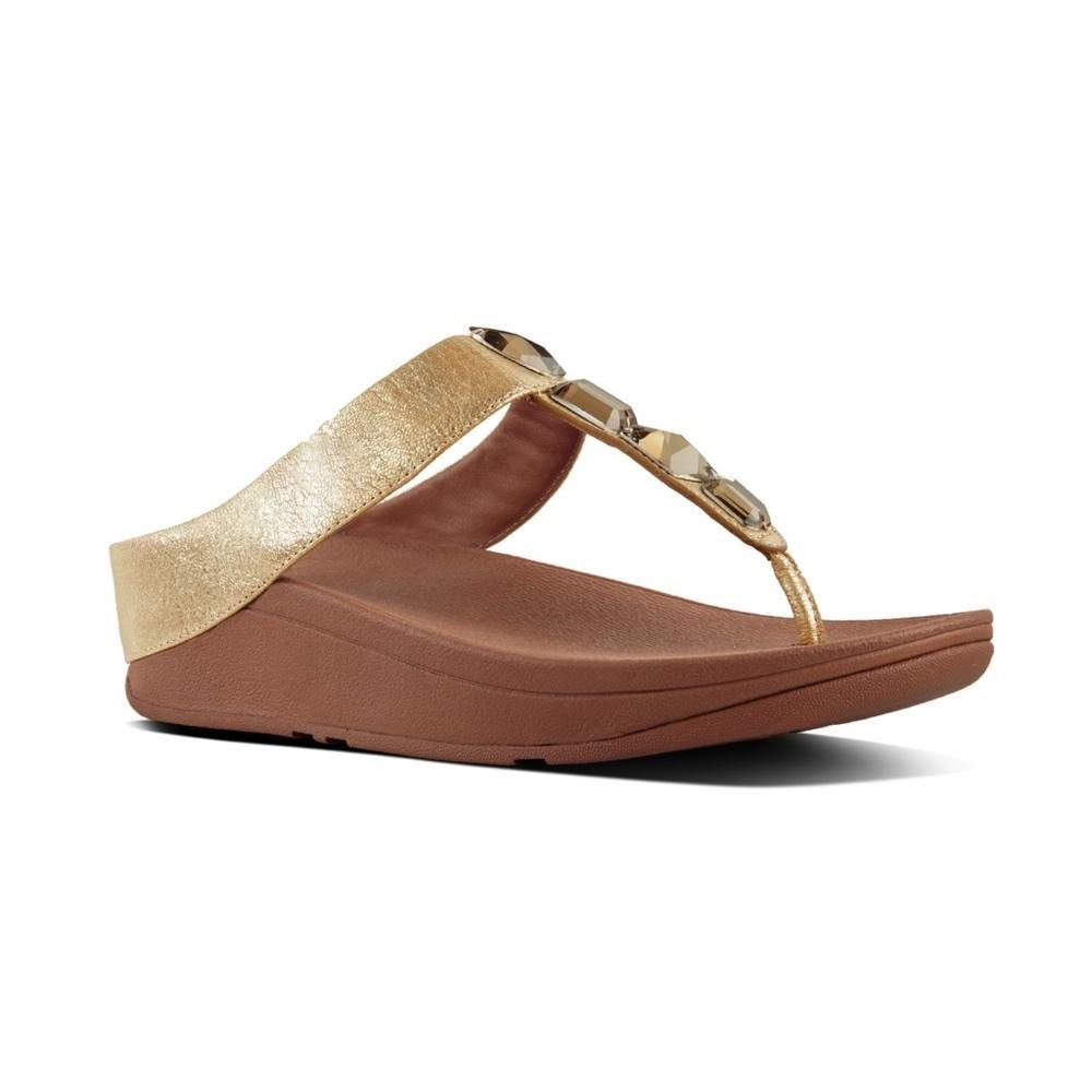 Fitflop ROKA™ Leather Toe-Thong Sandals (Gold)