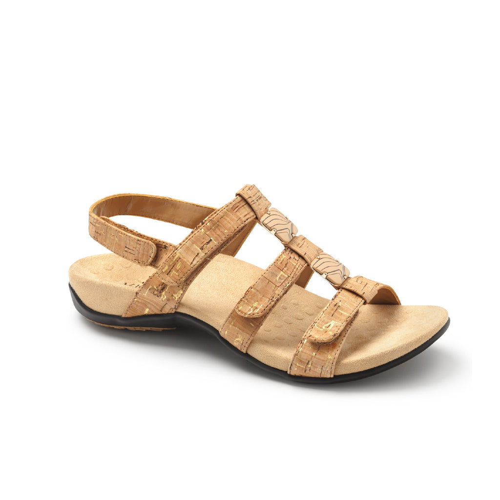 Amber Adjustable Sandal (Gold Cork)