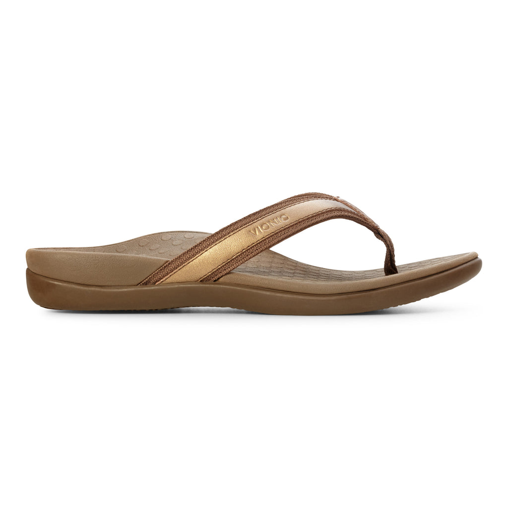 Vionic Tide II Toe Post Sandal (Bronze)