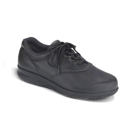 Women's lace up slip resistant shoe.